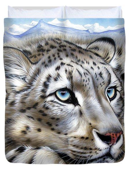 Snow-leopard's Dream Duvet Cover