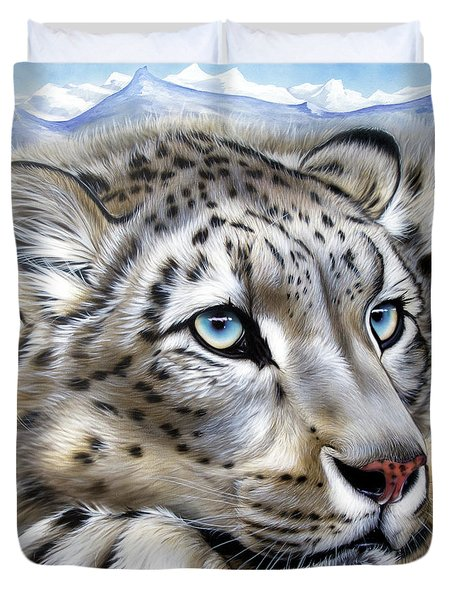 Snow-leopard's Dream Duvet Cover