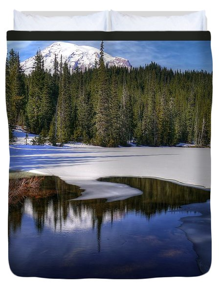 Snow-melt Revelations Duvet Cover