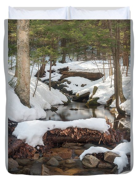 Snow Melt Duvet Cover