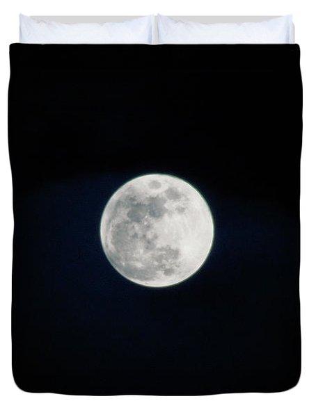 Snow Moon 4 Duvet Cover by Janie Johnson