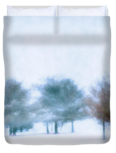 Snow Moon Duvet Cover by Darren Fisher