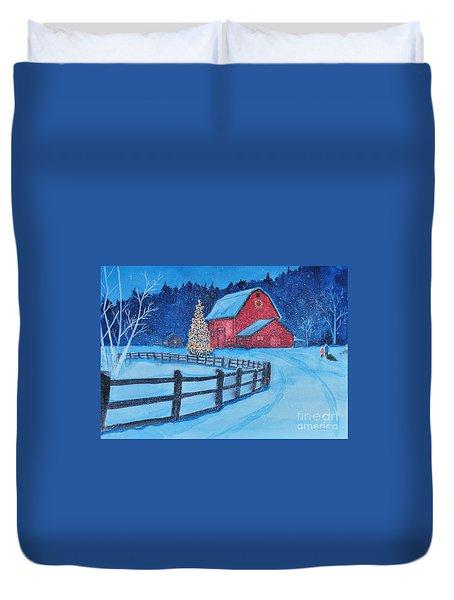 Snow On Christmas Eve Duvet Cover