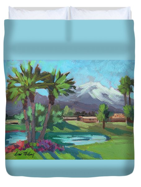 Snow On Mt. San Jacinto Duvet Cover