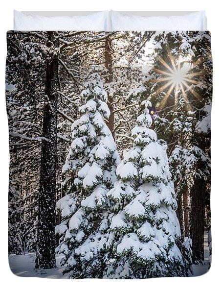 Snow On Spooner Summit Duvet Cover