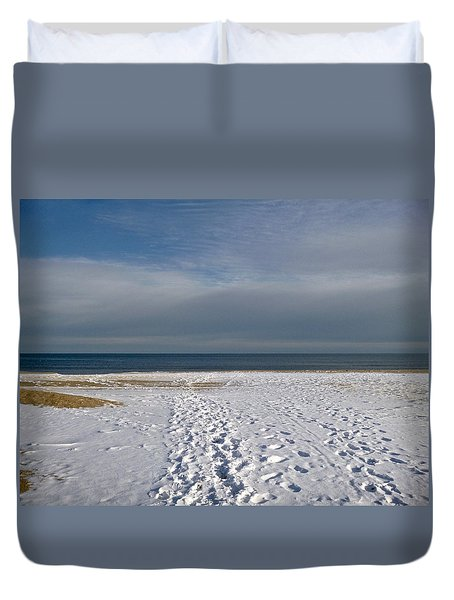 Snow On The Beach 2 Duvet Cover