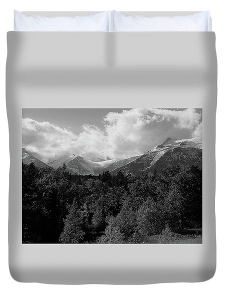 Snow On The Mountains Duvet Cover