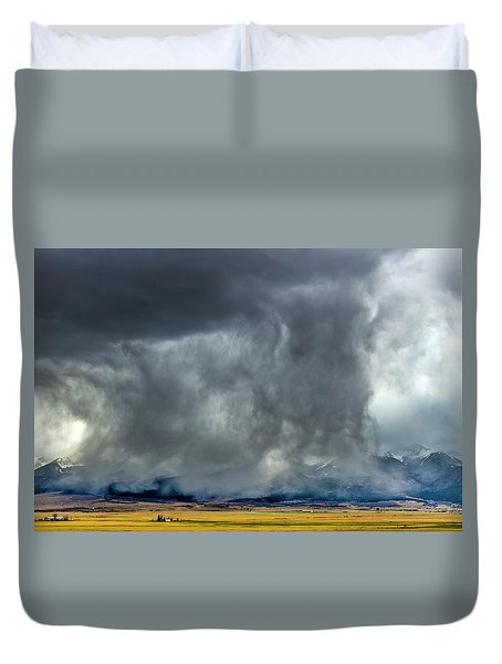 Snow On The Rockies Duvet Cover