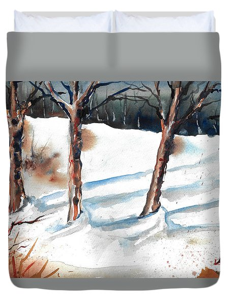 Snow Orchard Duvet Cover