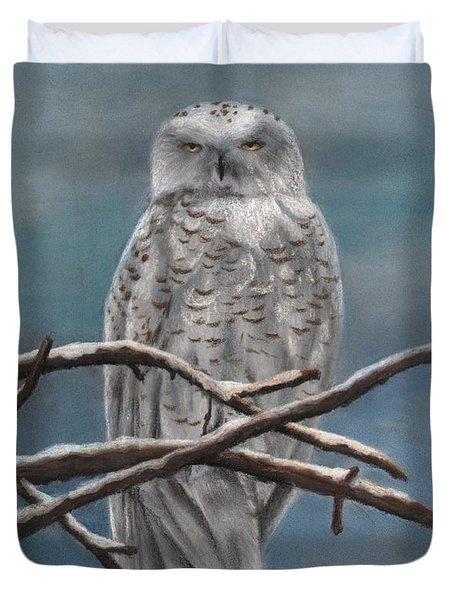 Snow Owl Duvet Cover