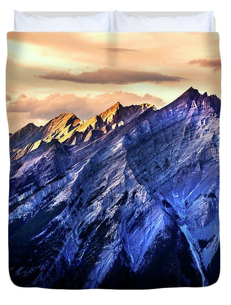 Duvet Cover featuring the photograph Mount Cascade by John Poon