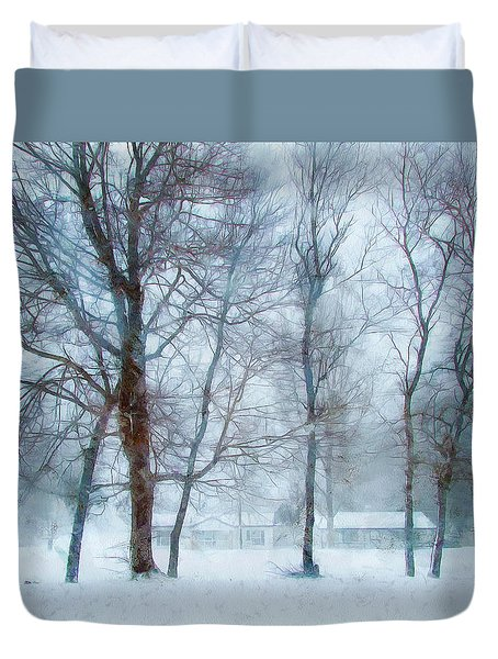 Snow Place Like Home Duvet Cover