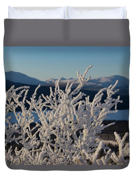 Duvet Cover featuring the photograph Snow Scene 5 by Phyllis Spoor