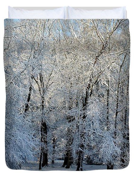Snow Scene One Duvet Cover