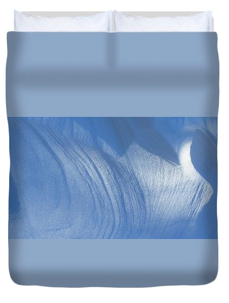 Snow Sculpted By The Wind Duvet Cover