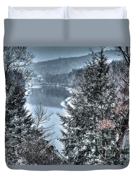 Snow Squall Duvet Cover by Tom Cameron