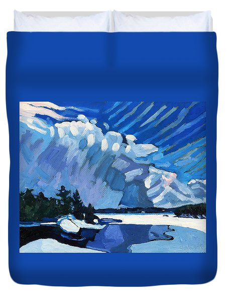 Snow Squalls Duvet Cover by Phil Chadwick