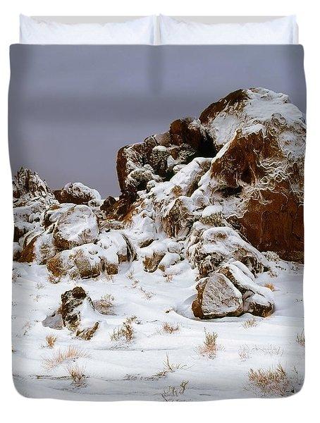 Snow Stones Duvet Cover