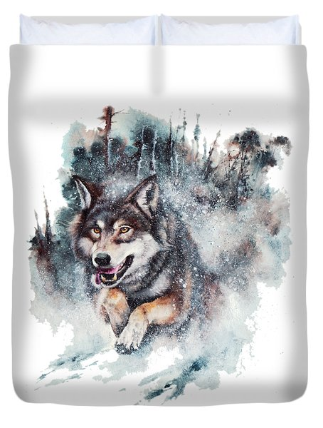 Snow Storm Duvet Cover