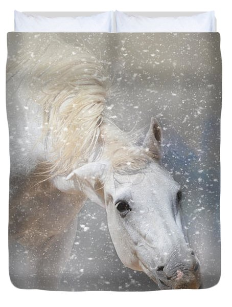Snow Tickle Duvet Cover by Jai Johnson