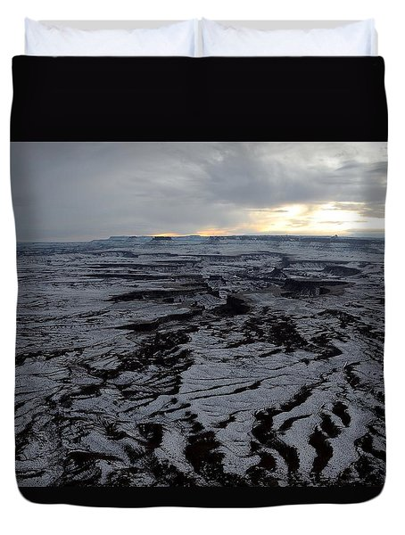 Snow Topped Canyons Duvet Cover