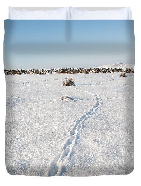 Snow Tracks Duvet Cover