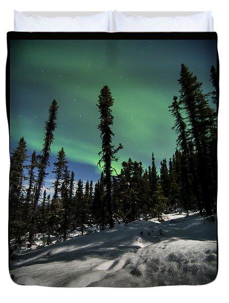 Snow Trails  Duvet Cover