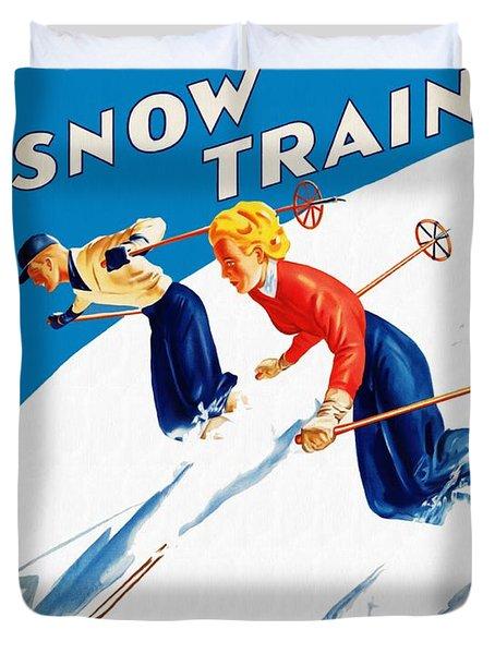 Snow Train - Restored Duvet Cover