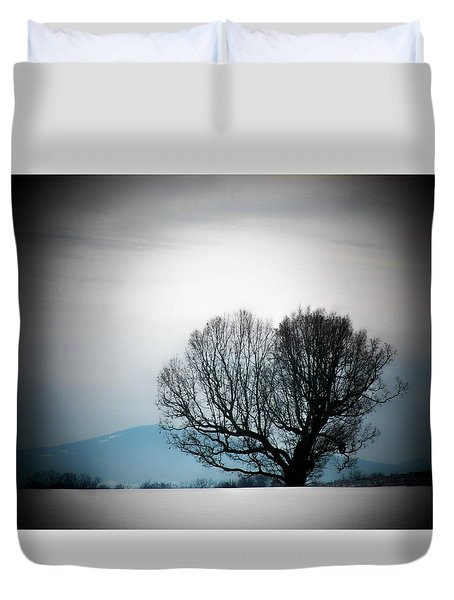 Snow Tree Duvet Cover by Joyce Kimble Smith