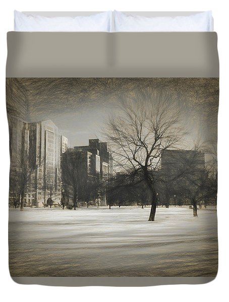 Snow Tree Duvet Cover