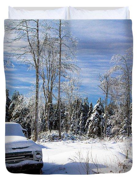 Snow Truck Duvet Cover