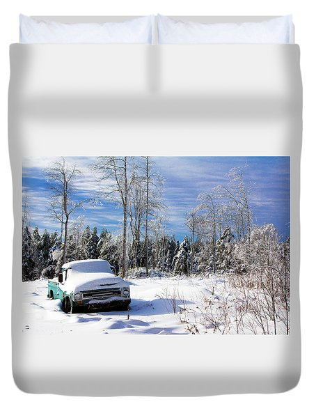 Snow Truck Duvet Cover
