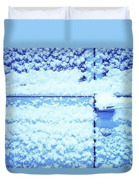 Snow Van 51 Chevy Panel Duvet Cover