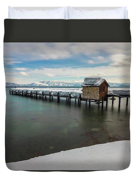 Snow White Pier Duvet Cover