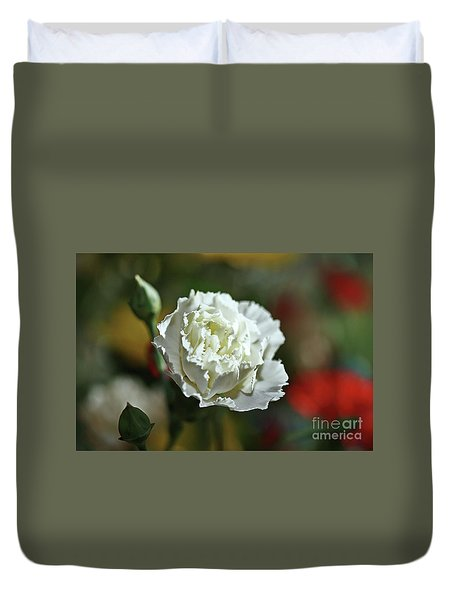 Duvet Cover featuring the photograph Snow White by Stephen Mitchell