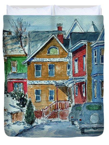 Snow, Wright St, Stapleton Duvet Cover