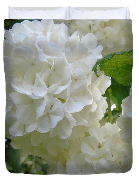 Snowball Hydrangea Duvet Cover by Susan Lafleur