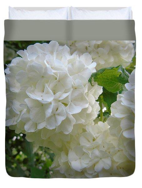 Snowball Hydrangea Duvet Cover