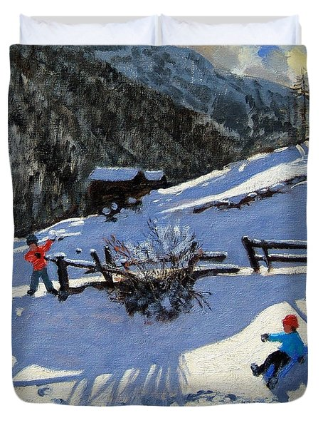 Snowballers Duvet Cover by Andrew Macara
