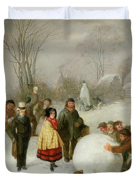 Snowballing   Duvet Cover by Cornelis Kimmel