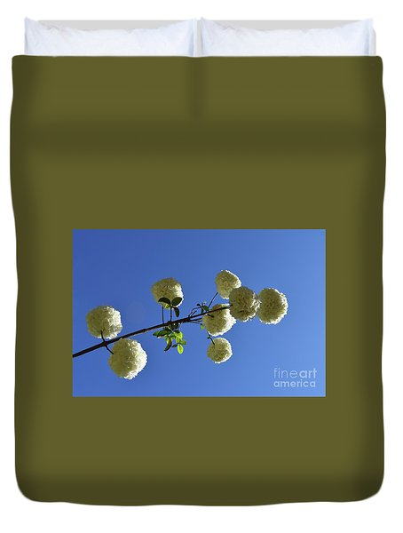 Duvet Cover featuring the photograph Snowballs On A Stick by Skip Willits