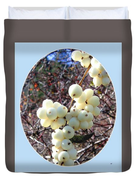 Snowberry Cluster Duvet Cover by Will Borden