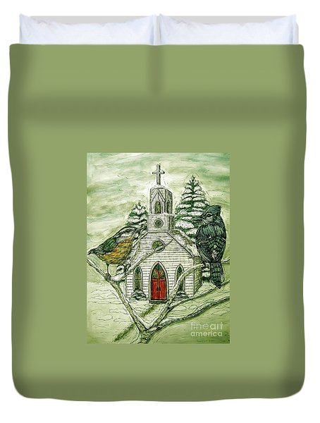 Snowbirds Visit St. Paul Duvet Cover
