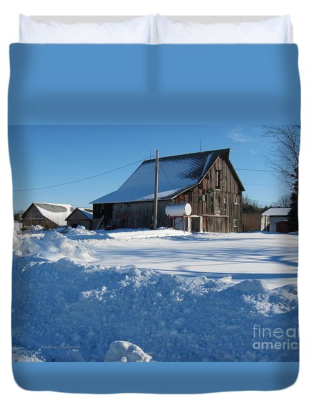 Duvet Cover featuring the photograph Snowbound by Kathie Chicoine