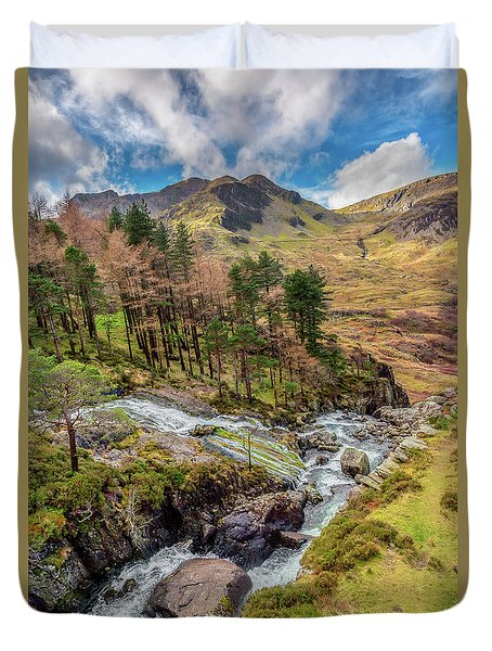 Snowdonia Landscape Winter Duvet Cover by Adrian Evans