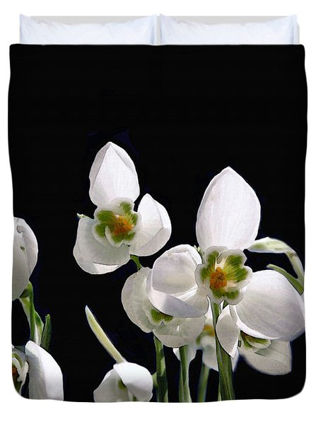 Snowdrop Flowers Duvet Cover