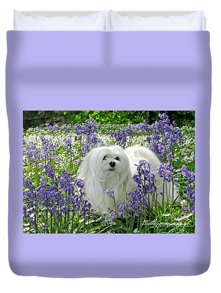 Snowdrop In The Bluebell Woods Duvet Cover
