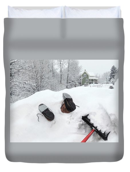 Snowed Under Duvet Cover
