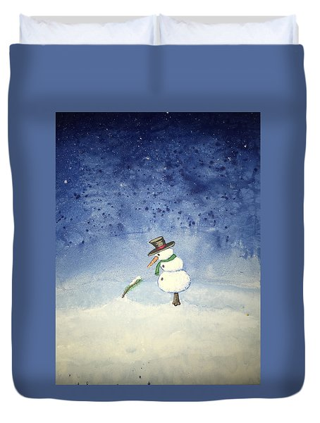 Snowfall Duvet Cover by Antonio Romero
