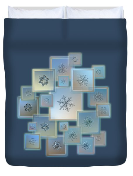 Snowflake Collage - Bright Crystals 2012-2014 Duvet Cover